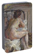 Nude On A Bed, C.1914 Portable Battery Charger