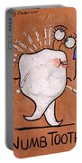 Numb Tooth Dental Art By Anthony Falbo Portable Battery Charger