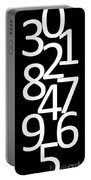 Numbers In Black And White Portable Battery Charger