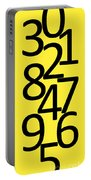 Numbers In Black And Yellow Portable Battery Charger
