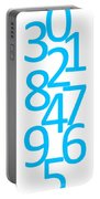 Numbers In Blue Portable Battery Charger