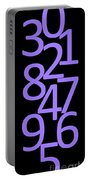 Numbers In Purple And Black Portable Battery Charger