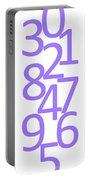 Numbers In Purple Portable Battery Charger