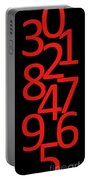 Numbers In Red And Black Portable Battery Charger