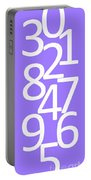 Numbers In White And Purple Portable Battery Charger