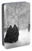 Nuns In Snow New York City 1946 Portable Battery Charger