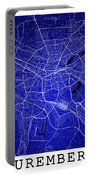 Nuremberg Street Map - Nuremberg Germany Road Map Art On Colored Portable Battery Charger