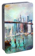 Ny City Brooklyn Bridge II Portable Battery Charger