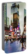 Ny Times Square Impressions I Portable Battery Charger