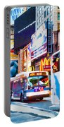 Ny Times Square Impressions Iv Portable Battery Charger