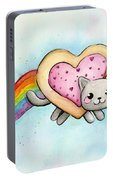 Nyan Cat Valentine Heart Portable Battery Charger