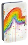 Nyan Cat Watercolor Portable Battery Charger