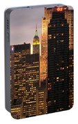 Nyc Midtown Golden Lights Portable Battery Charger