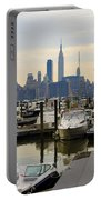 Nyc View From Lincoln Harbor Weehawkin Nj Portable Battery Charger