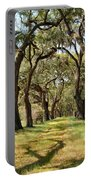 Oak Allee At Roseland Plantation  Portable Battery Charger