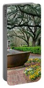 Oak Alley Landscape In Vacherie Louisiana Portable Battery Charger