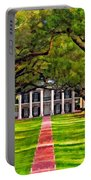 Oak Alley Paint Version Portable Battery Charger by Steve Harrington