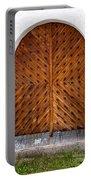 Oak Double Door Portable Battery Charger