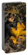 Oak Leaf And Acorn In Autumn Portable Battery Charger
