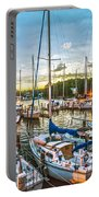 Oak Pt Harbor At Sundown Portable Battery Charger