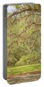Oak Trees Draped With Spanish Moss Portable Battery Charger by Kim Hojnacki