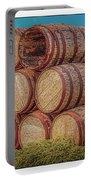Oak Wine Barrels Portable Battery Charger