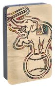 Oakland Athletics Poster Art Portable Battery Charger
