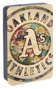 Oakland Athletics Poster Vintage Portable Battery Charger