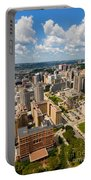 Oakland Pitt Campus With City Of Pittsburgh In The Distance Portable Battery Charger