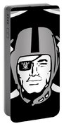 Oakland Raiders Portable Battery Charger by Tony Rubino