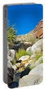 Oasis On Borrego Palm Canyon Trail In Anza-borrego Desert Sp-ca Portable Battery Charger