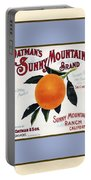 Oatmans Sunny Mountain Brand Oranges Vertical Portable Battery Charger