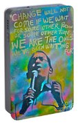 Obama In Living Color Portable Battery Charger