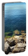 Ocean And Rocks Portable Battery Charger
