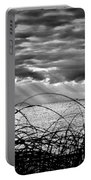 Ocean Rays Black And White Portable Battery Charger