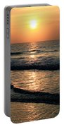 Ocean Sunrise Over Myrtle Beach Portable Battery Charger