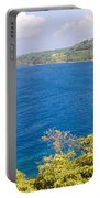 Ocean View From The Road To Hana, Maui Portable Battery Charger