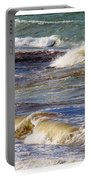 Ocean Waves Triptych Portable Battery Charger