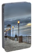 Oceanside Pier At Sunset Portable Battery Charger