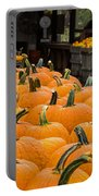 October At The Farm - Pumpkins Portable Battery Charger
