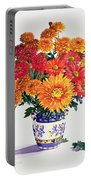 October Chrysanthemums Portable Battery Charger
