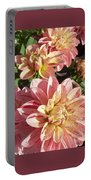 October Dahlia Field Portable Battery Charger