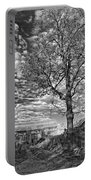 October Evening Monochrome Portable Battery Charger