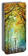 October In The Forest Portable Battery Charger by Leonid Afremov