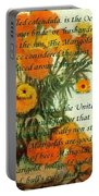 October's Child Birthday Card With Text And Marigolds Portable Battery Charger