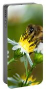 Of Bee And Flower Portable Battery Charger