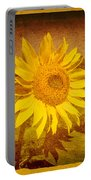Of Sunflowers Past Portable Battery Charger