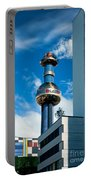 Office Building And Waste-to-energy Plant Vienna Portable Battery Charger by Stephan Pietzko
