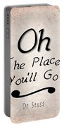 Oh The Places You'll Go Portable Battery Charger