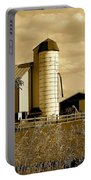 Ohio Farm In Sepia Portable Battery Charger by Frozen in Time Fine Art Photography